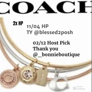 02/12&11/4 HP 🥳NWT Coach 3 bangle bracelet